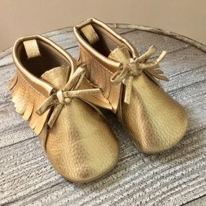 Old Navy Shoes | Gold Baby Moccasins